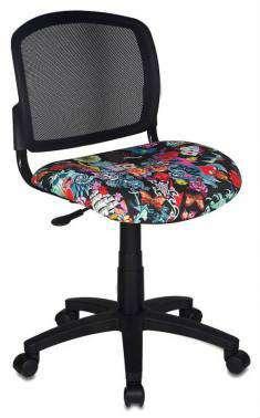Кресло H-296 спинка сетка черный сиденье