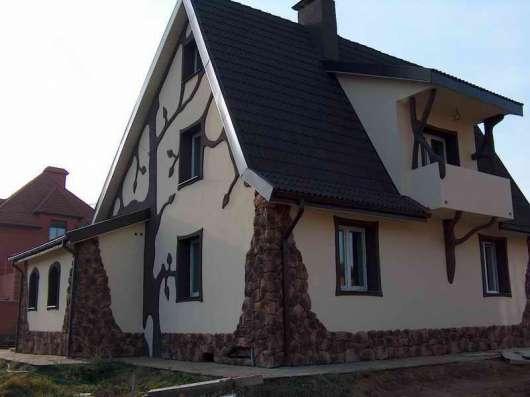 Фасадные работы- штукатурка. покраска, утепление, облицовка