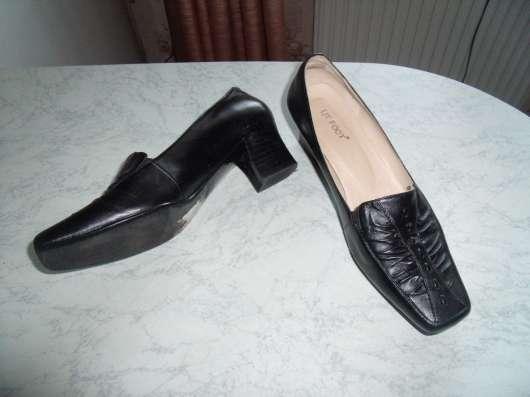 Черные туфли Litfoot на маленьком каблуке р.37-37.5