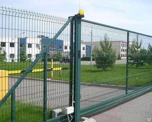 Ворота откатные 2030х4000 мм Полимер