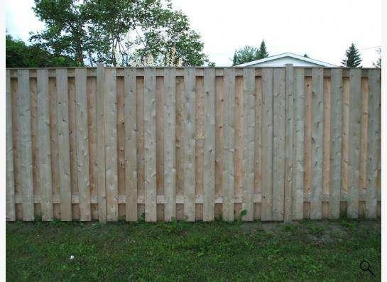 Деревянный забор в Новосибирске Фото 3